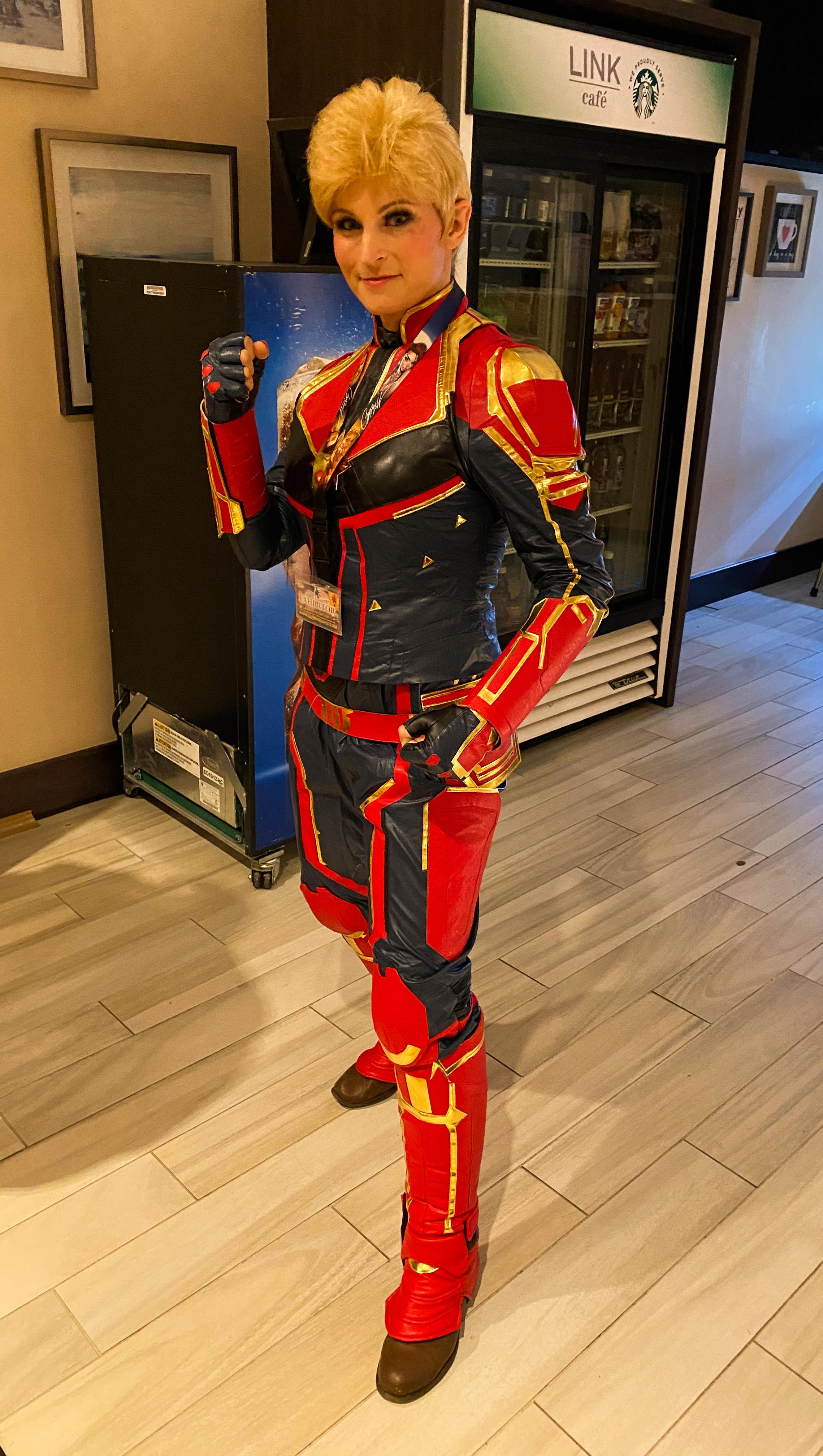 Captain Marvel (Cosplayer Chelsea Von Chastity)