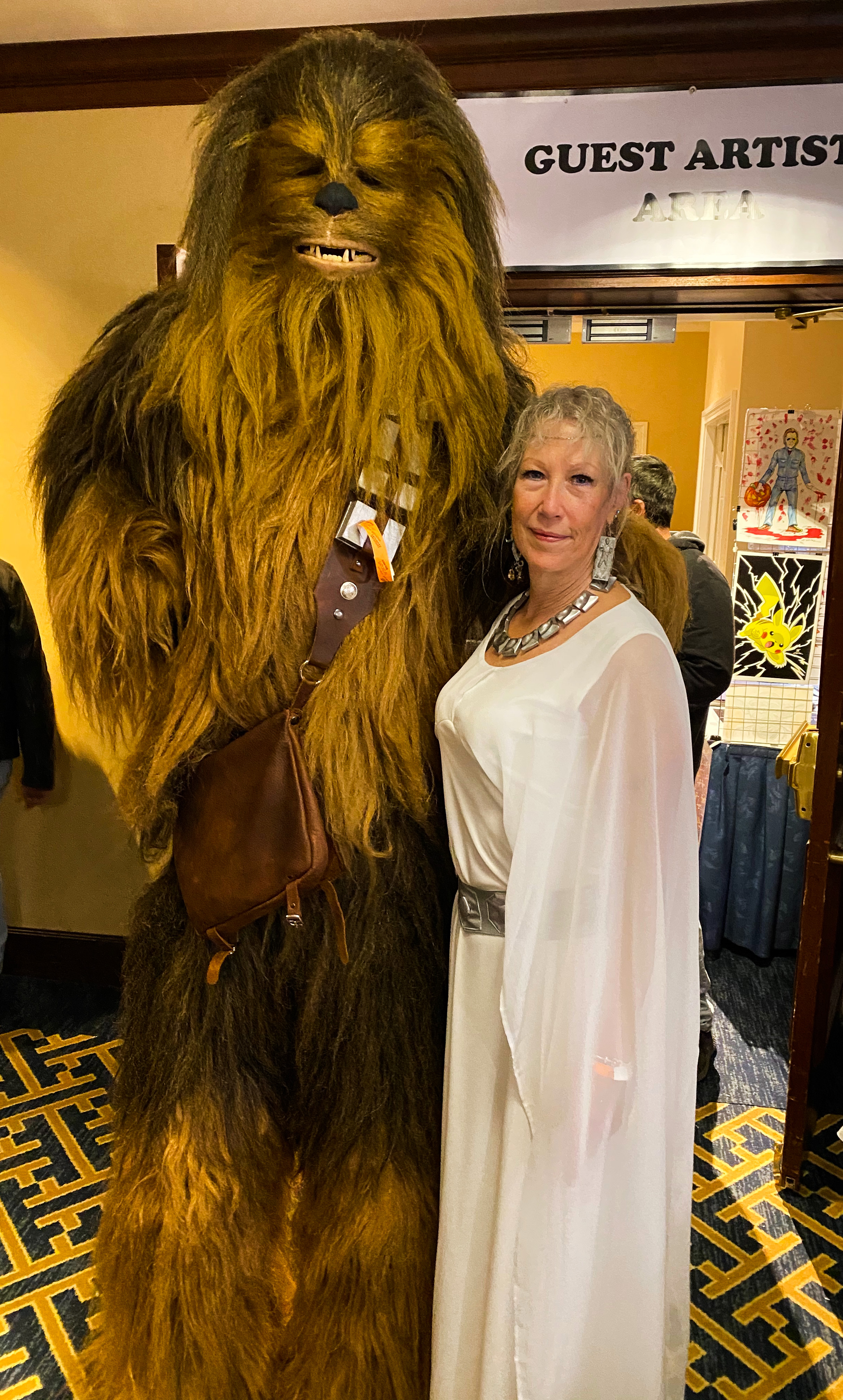 Chewbacca and Princess Leia.