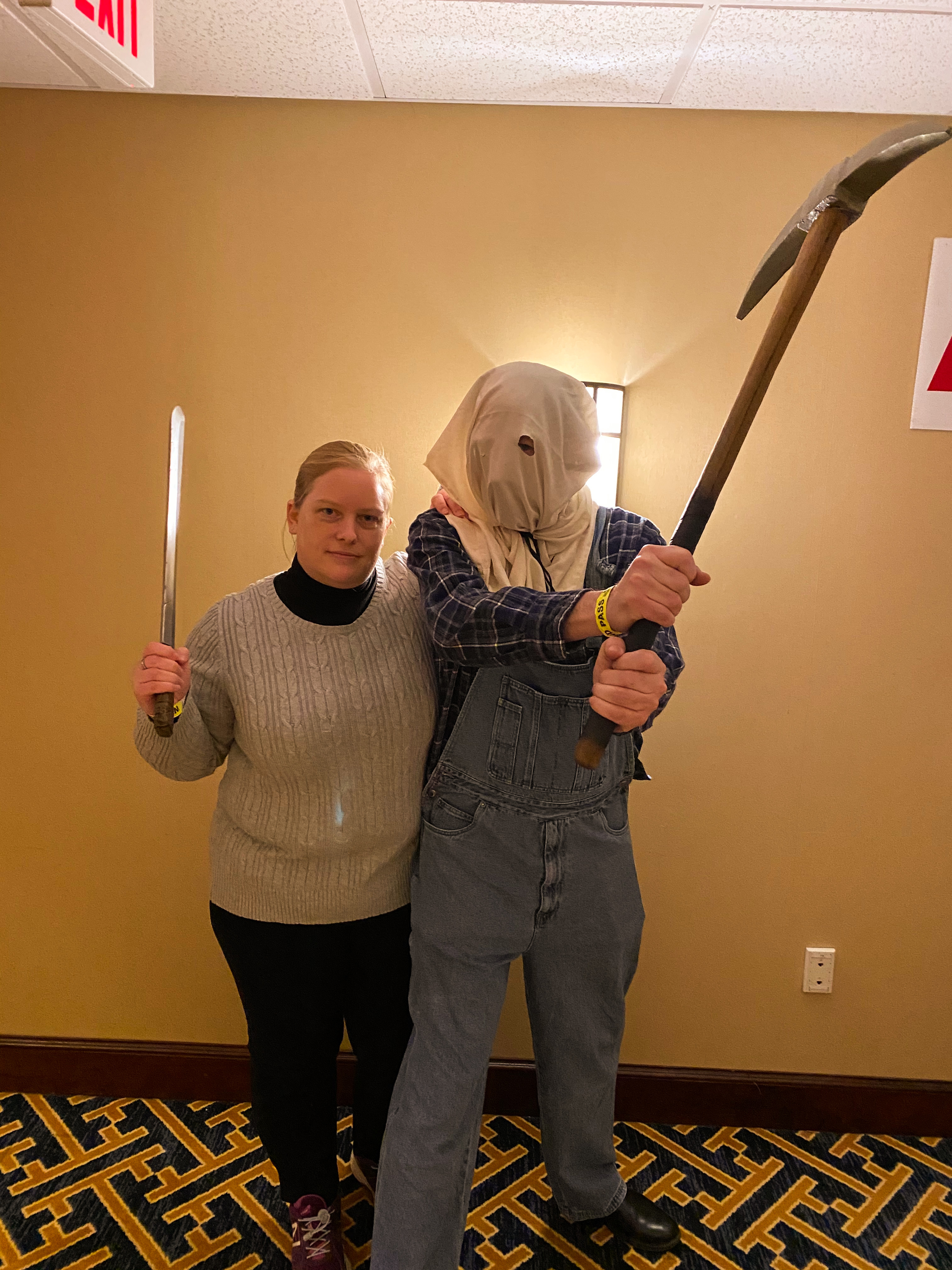 Pamela and Jason Voorhees